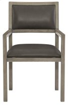 Mitcham Leather Arm Chair in Rustic Gray Product Image