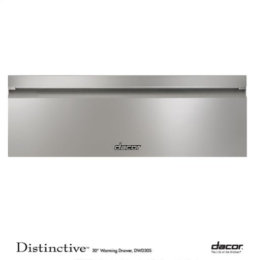 "Distinctive 30"" Warming Drawer, in Stainless Steel"