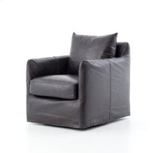 Rider Black Cover Banks Swivel Chair
