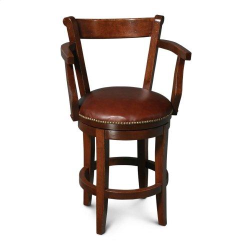 "Avalon Swivel Barstool, Specify Height 17""-31"", Fabric Seat"