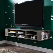 Wall Mounted Media Console - 66\ - Gray Maple