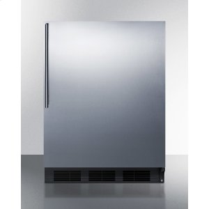 SummitBuilt-in Undercounter Refrigerator-freezer for General Purpose Use, With Dual Evaporator Cooling, Cycle Defrost, Ss Door, Thin Handle and Black Cabinet