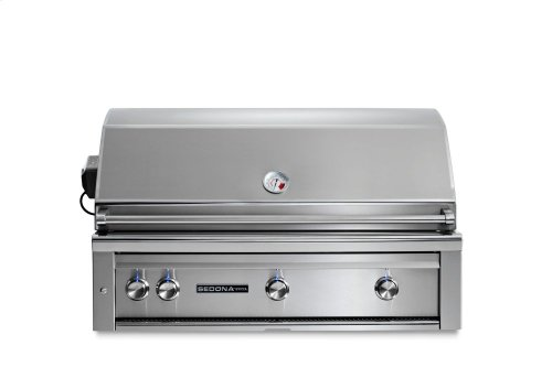 """42"""" Sedona by Lynx Built In Grill with 3 Stainless Steel Burners and Rotisserie, LP"""