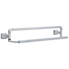 "Chrome 24"" Double Towel Bar"