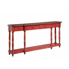 Simpson 4-drawer Console In Red
