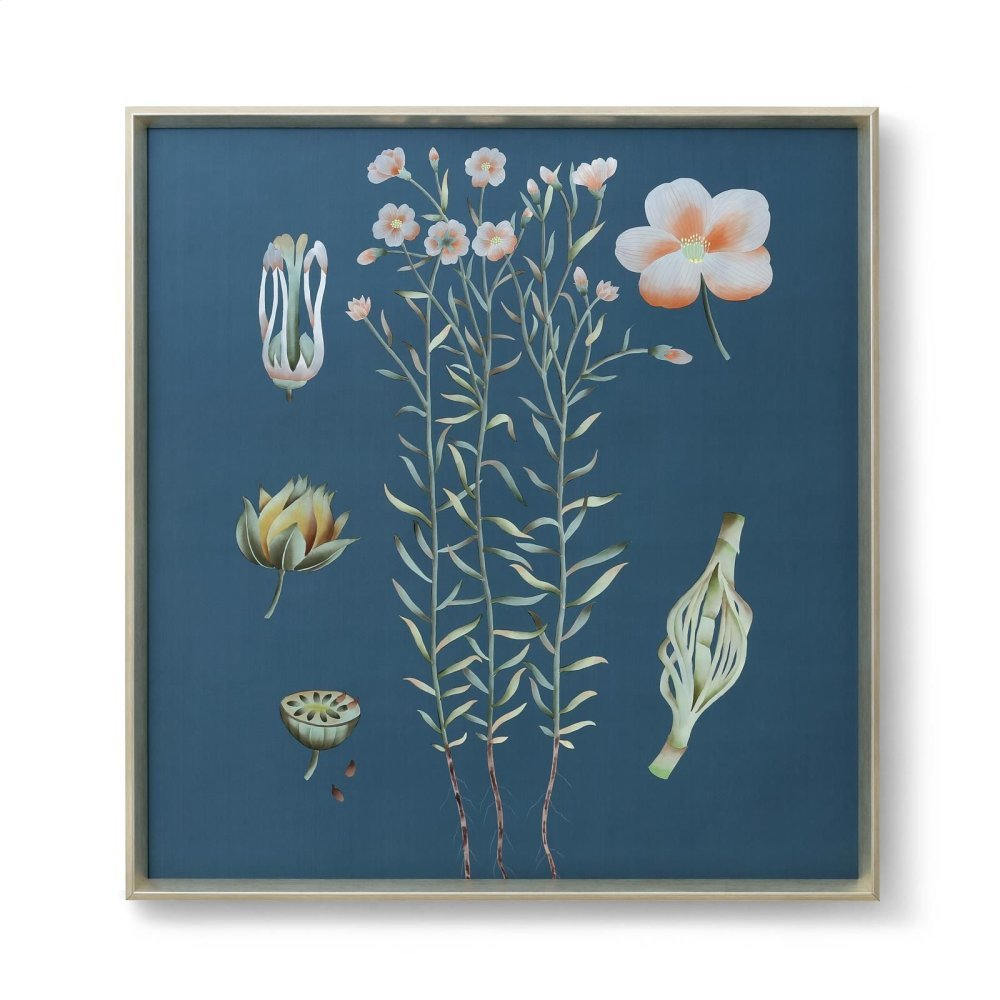Auer Framed Silk Panel, Blue-Green-Pink