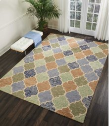 Vibrant Vib07 Light Multicolor Rectangle Rug 4' X 6'