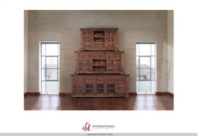 """83"""" TV Stand w/3 glass doors, 2 wooden doors & 5 drawers*"""