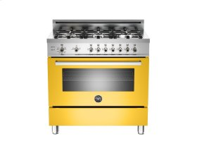 36 6-Burner, Gas Oven Yellow