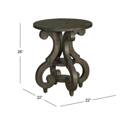 Round Accent End Table