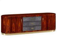 Art Deco High Lustre Rosewood TV Entertaiment