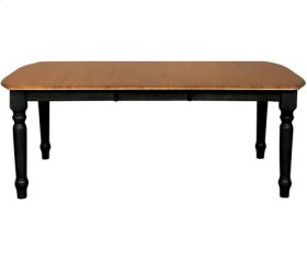 Rectangular Extension Table Black & Cherry