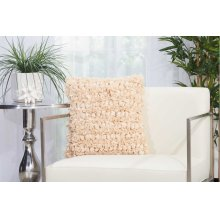 "Shag Dl058 Beige 16"" X 16"" Throw Pillows"
