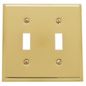 Polished Brass Beveled Edge Double Toggle Product Image