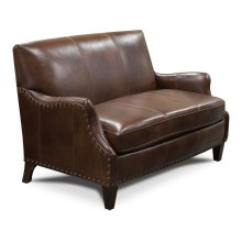 Leather Lyle Settee with Nails 84384LN