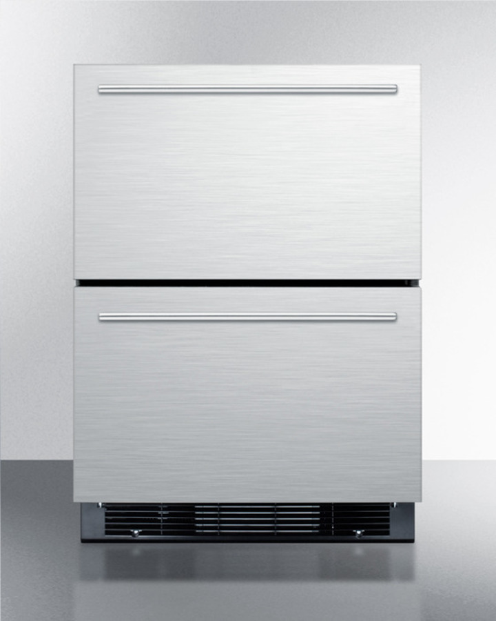 Two drawer Refrigerator freezer for Built in or Freestanding Use