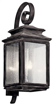 "Wiscombe Park 30.5"" 4 Light Wall Light Weathered Zinc"