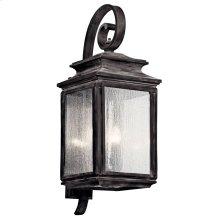 "Wiscombe Park 30.5"" 4 Light Wall Light Weathered Zinc"