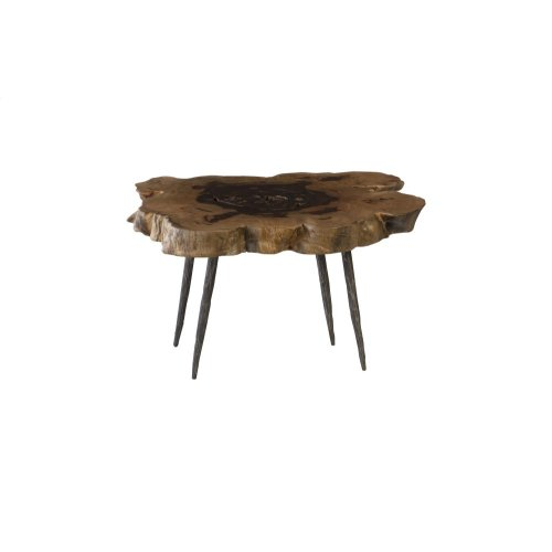 Wood Coffee Table, Forged Legs