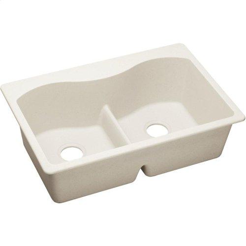 "Elkay Quartz Luxe 33"" x 22"" x 9-1/2"", Equal Double Bowl Drop-in Sink with Aqua Divide"
