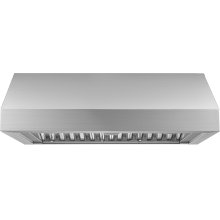 """Heritage 36"""" Pro Wall Hood, 12"""" High, Silver Stainless Steel"""