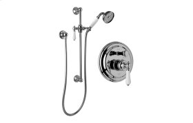 Traditional Pressure Balancing Shower set w/Handshower & Slidebar (Rough & Trim)