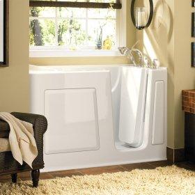 Gelcoat Value Series 30 x 60 Inch Walk-in Bathtub  Right Drain  American Standard - White