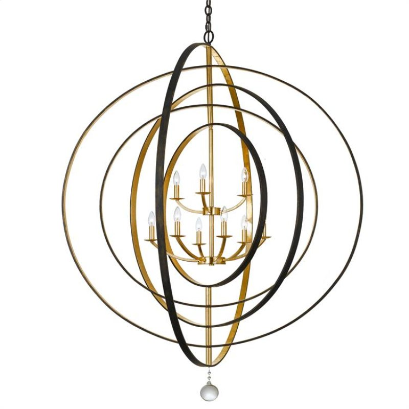 587ebga in by crystorama in raleigh nc luna 9 light english luna 9 light english bronze antique gold chandelier aloadofball Choice Image