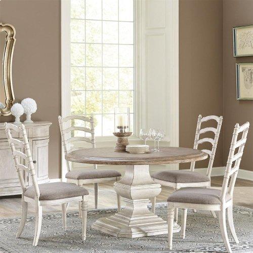 Elizabeth - 54-inch Round Dining Table Top - Antique Oak Finish