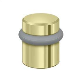 """Round Universal Floor Bumper 1-1/2"""", Solid Brass - Unlacquered Brass"""