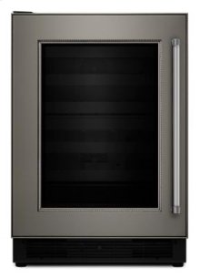 """24"""" Panel Ready Beverage Center with Glass Door - Panel Ready"""