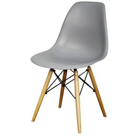 Allen Molded PP Chair Maple Dowel Legs, Gray