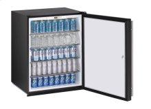 "24"" ADA Solid Door Refrigerator Black Solid (Lock) Field Reversible"