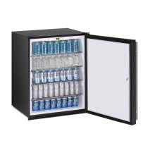 "24"" ADA Solid Door Refrigerator Black Solid (Lock) Field Reversible"