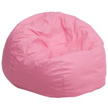 Oversized Solid Light Pink Bean Bag Chair