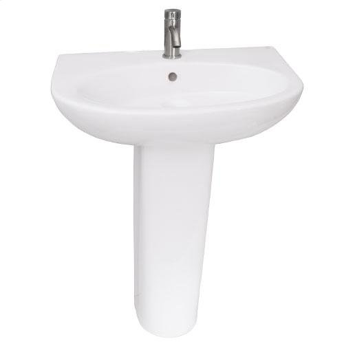 Infinity 600 Pedestal Lavatory - Single-Hole