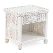 Wicker 1 Drawer Nightstand Cotton 3731