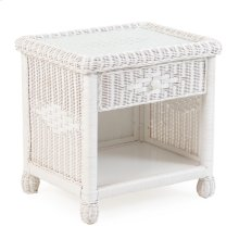 Wicker 1 Drawer Nightstand Cotton 3731