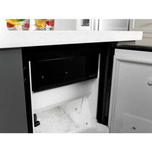 "Jenn-Air® Euro-Style 15"" Under Counter Ice Machine with Factory Installed Drain Pump - Stainless Steel"