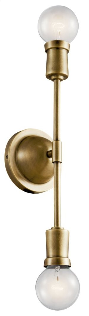 Armstrong Wall Sconce Natural Brass