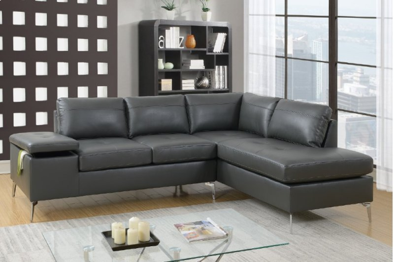 F6520 In By Poundex In Orlando Fl 2 Pcs Sectional Sofa