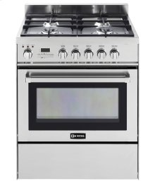 "Stainless Steel 30"" Self-Cleaning Dual Fuel Convection Range"