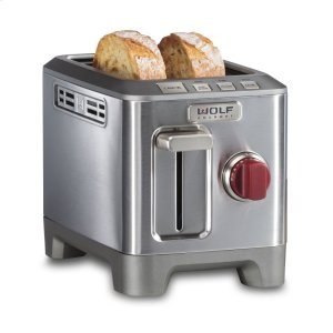 Wolf  Two Slice Toaster - Red Knob
