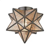 Moravian Star 1-Light Flush Mount in Bronze