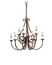 Dover 9 Light 2 Tier Chandelier Tannery Bronze