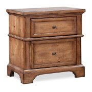 LIV360 Two Drawer Nightstand Product Image