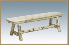 Montana Log Plank Style Bench