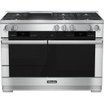 MieleHR 1955 G 48 inch range Dual Fuel with M Touch controls, Moisture Plus and M Pro dual stacked burners