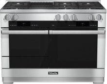 HR 1955 G 48 inch range Dual Fuel with M Touch controls, Moisture Plus and M Pro dual stacked burners