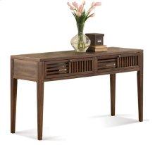 Modern Gatherings Open Slat Sofa Table Brushed Acacia finish